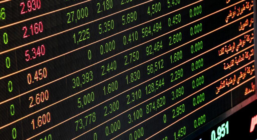 Aktienchart, Investieren