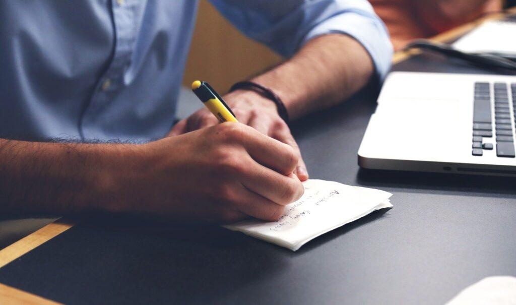 Schreibe deine Investmentgründe auf